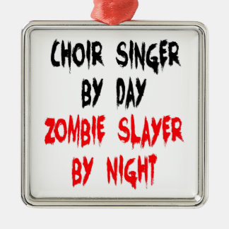 Zombie Slayer Choir Singer Christmas Ornament