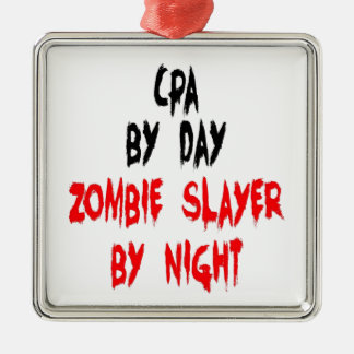 Zombie Slayer CPA Christmas Ornament