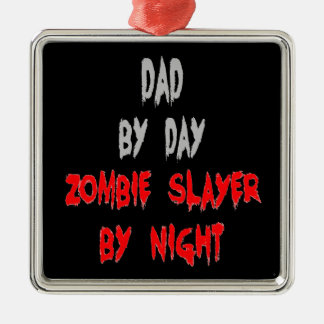 Zombie Slayer Dad Christmas Ornament