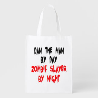 Zombie Slayer Dan the Man Reusable Grocery Bag