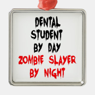 Zombie Slayer Dental Student Christmas Ornament