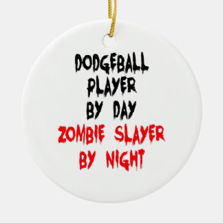 Zombie Slayer Dodgeball Player Christmas Ornament