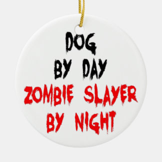 Zombie Slayer Dog Christmas Ornament