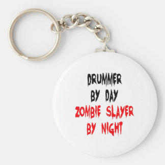Zombie Slayer Drummer Basic Round Button Key Ring