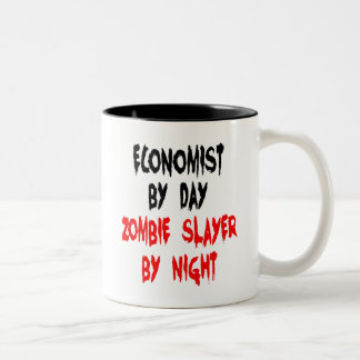 Zombie Slayer Economist Two-Tone Coffee Mug
