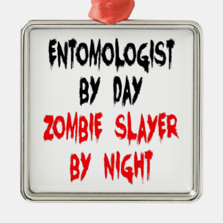Zombie Slayer Entomologist Christmas Ornament