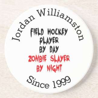 Zombie Slayer Field Hockey Player Coaster
