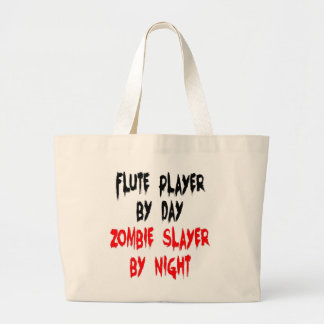 Zombie Slayer Flute Player Large Tote Bag