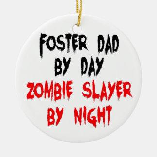 Zombie Slayer Foster Dad Round Ceramic Decoration