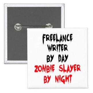 Zombie Slayer Freelance Writer 15 Cm Square Badge