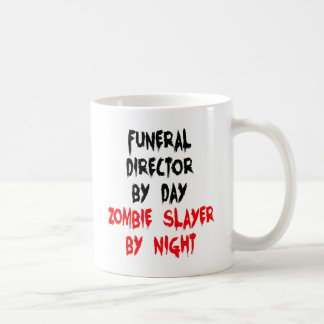 Zombie Slayer Funeral Director Coffee Mug