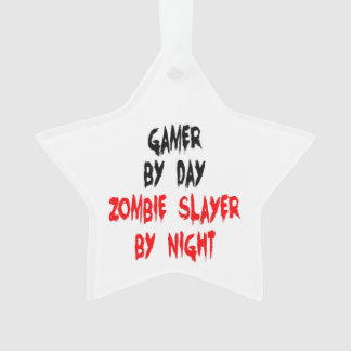 Zombie Slayer Gamer Ornament