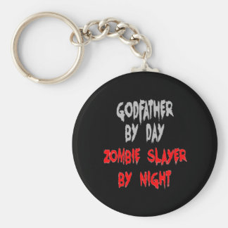Zombie Slayer Godfather Basic Round Button Key Ring