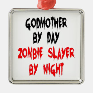 Zombie Slayer Godmother Christmas Ornament