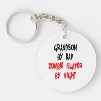 Zombie Slayer Grandson Double-Sided Round Acrylic Key Ring