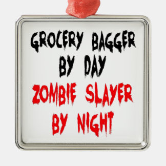 Zombie Slayer Grocery Bagger Christmas Ornament