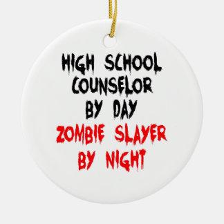 Zombie Slayer High School Counselor Round Ceramic Decoration