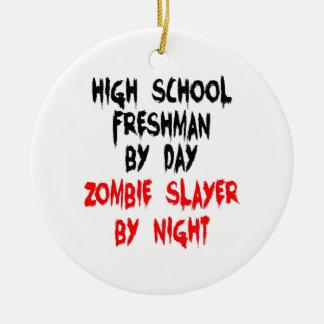 Zombie Slayer High School Freshman Christmas Ornament