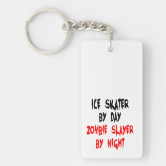 Zombie Slayer Ice Skater Double-Sided Rectangular Acrylic Key Ring