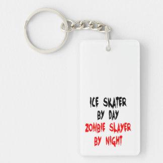 Zombie Slayer Ice Skater Double-Sided Rectangular Acrylic Keychain