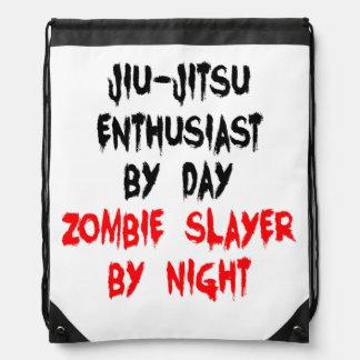 Zombie Slayer Jiu-Jitsu Enthusiast Drawstring Bag