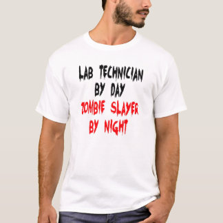 Zombie Slayer Lab Technician T-Shirt