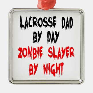 Zombie Slayer Lacrosse Dad Christmas Ornament