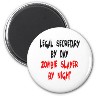 Zombie Slayer Legal Secretary 6 Cm Round Magnet