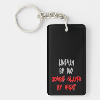 Zombie Slayer Lineman Double-Sided Rectangular Acrylic Keychain