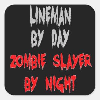 Zombie Slayer Lineman Square Sticker