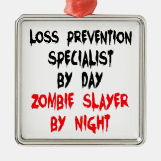 Zombie Slayer Loss Prevention Specialist Christmas Ornament