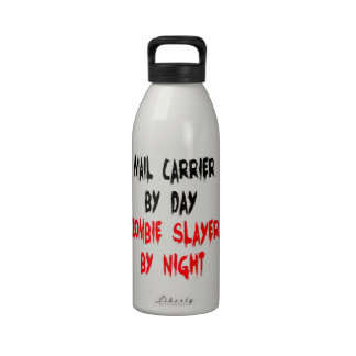 Zombie Slayer Mail Carrier Drinking Bottles