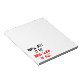 Zombie Slayer Martial Artist Notepad