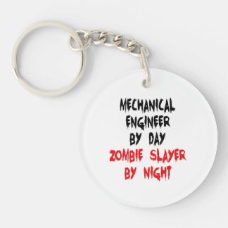 Zombie Slayer Mechanical Engineer Double-Sided Round Acrylic Key Ring