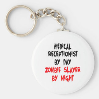 Zombie Slayer Medical Receptionist Key Ring