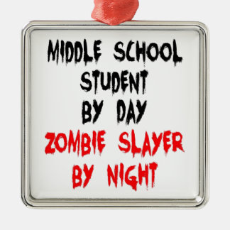 Zombie Slayer Middle School Student Christmas Ornament