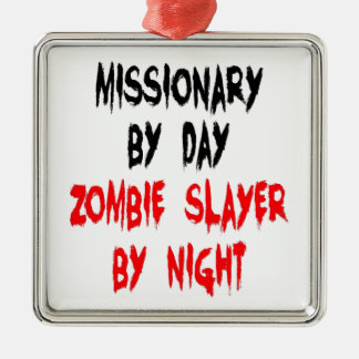 Zombie Slayer Missionary Christmas Ornament