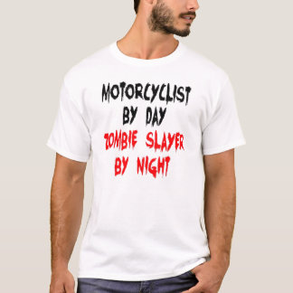 Zombie Slayer Motorcyclist T-Shirt