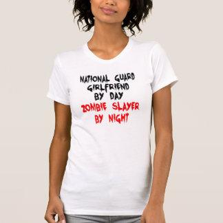 Zombie Slayer National Guard Girlfriend T Shirt