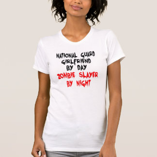 Zombie Slayer National Guard Girlfriend T-Shirt