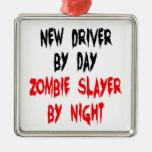 Zombie Slayer New Driver Silver-Colored Square Decoration