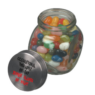 Zombie Slayer Occupational Therapist Jelly Belly Candy Jar