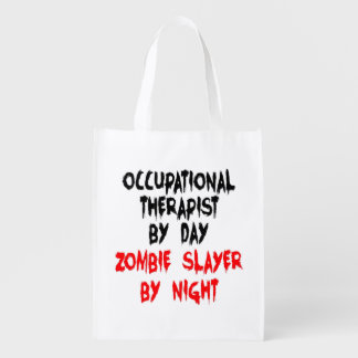 Zombie Slayer Occupational Therapist Reusable Grocery Bag