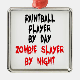 Zombie Slayer Paintball Player Christmas Ornament