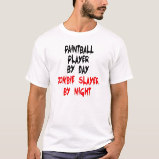 Zombie Slayer Paintball Player T-Shirt