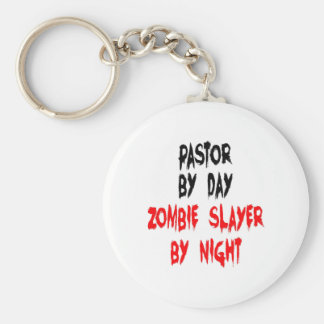 Zombie Slayer Pastor Basic Round Button Key Ring