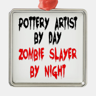 Zombie Slayer Pottery Artist Christmas Ornament