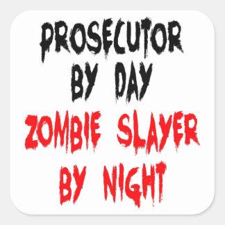 Zombie Slayer Prosecutor Square Sticker