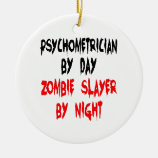 Zombie Slayer Psychometrician Christmas Ornament
