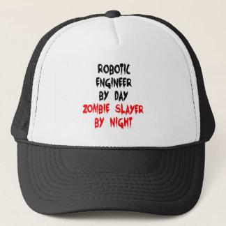 Zombie Slayer Robotic Engineer Trucker Hat